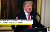 Trump's impeachment trial: Senators to lay ground rules today