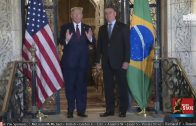 Trump Speaks to the Press with Brazilian President Bolsonaro